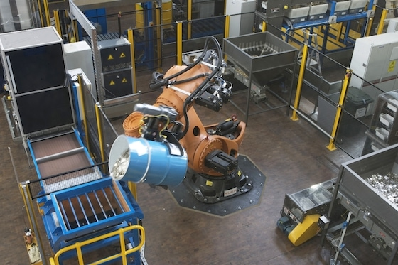 Titan the Robot tipping