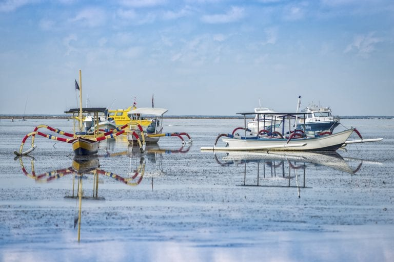 Balinese fishing boats at Sanur Beach CREDIt iStock