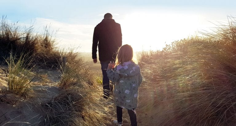 A girl exploring with her dad at Seaspray Image Tori Green FEATURE