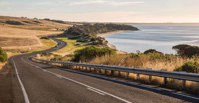 Drive through Penneshaw on Kangaroo Island Image Tourism Australia scaled