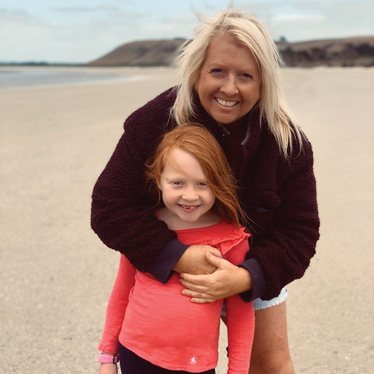 Meg Law and her daughter Daisy in Stanley Tasmania