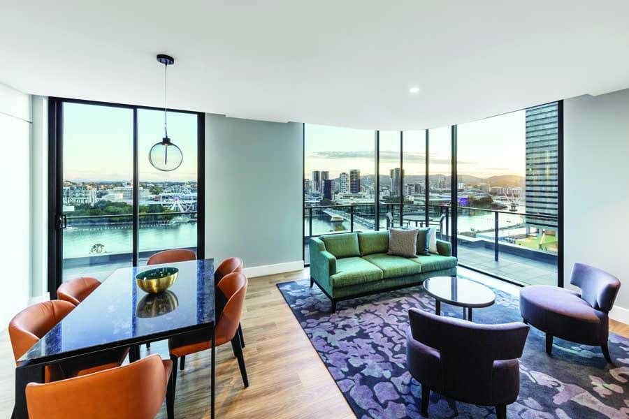 a two bedroom premier room at adina apartment hotel brisbane 1