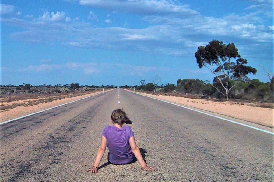 catherines daughter julia on the nullarbor plain