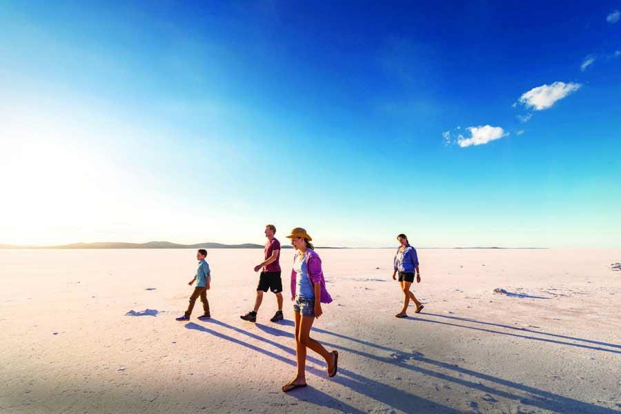exploring lake gairdner national park. image south australian tourism commission