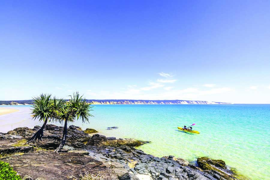 go kayaking at double island point north of noosa