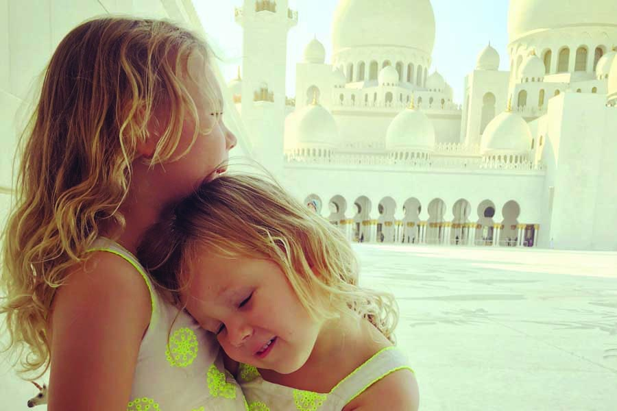 lotte and leni at zayed mosque