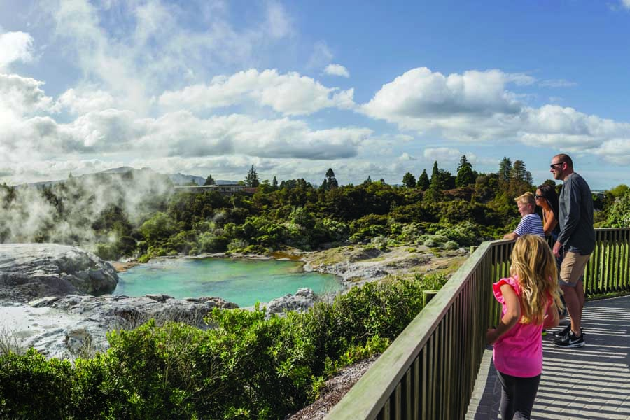 new zealand may become part of a travel bubble. image destination rotorua