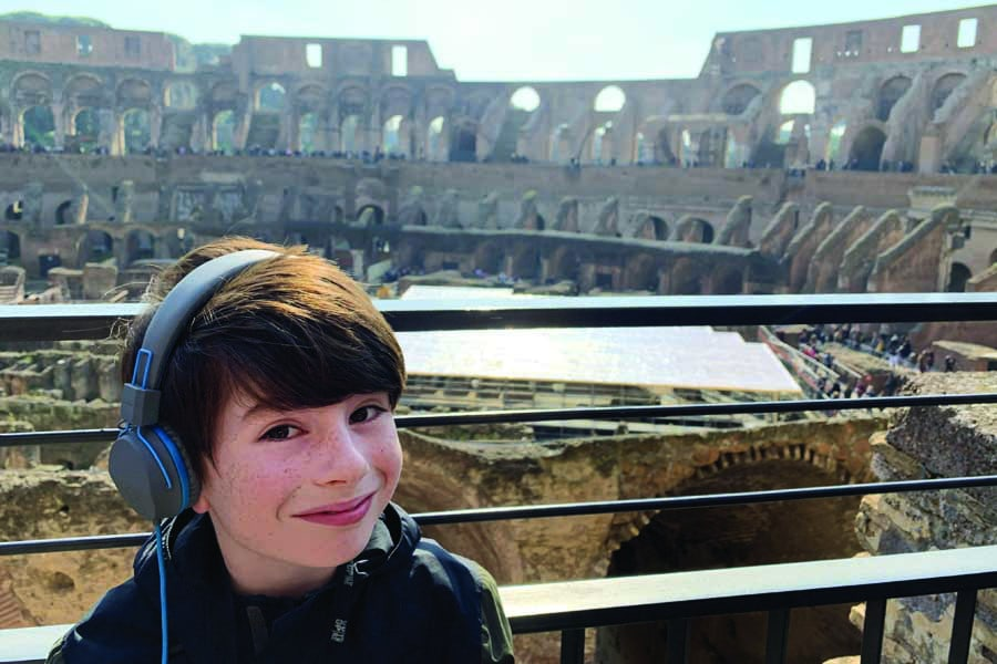 paxton during a tour of the colloseum in rome