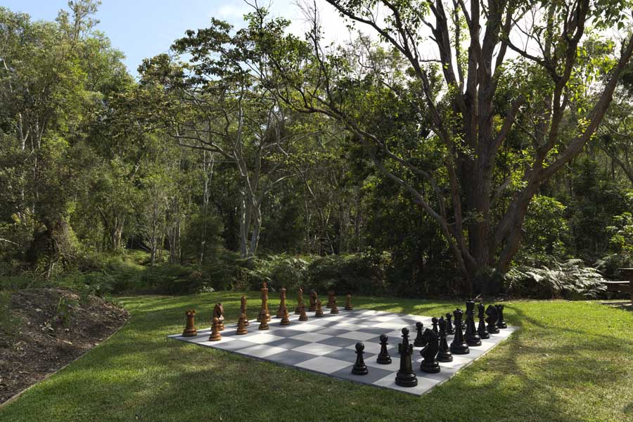 the giant chess set at elements of byron