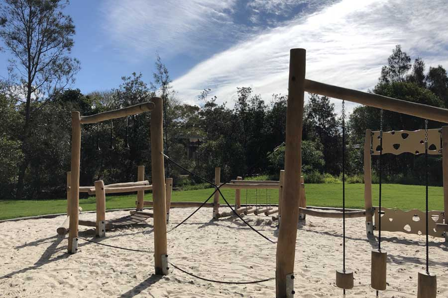 the kids adventure playground at elements of byron
