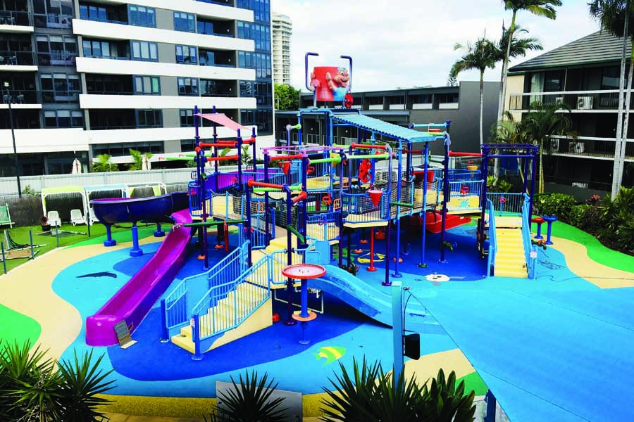 the revamped water park at paradise resort gold coast