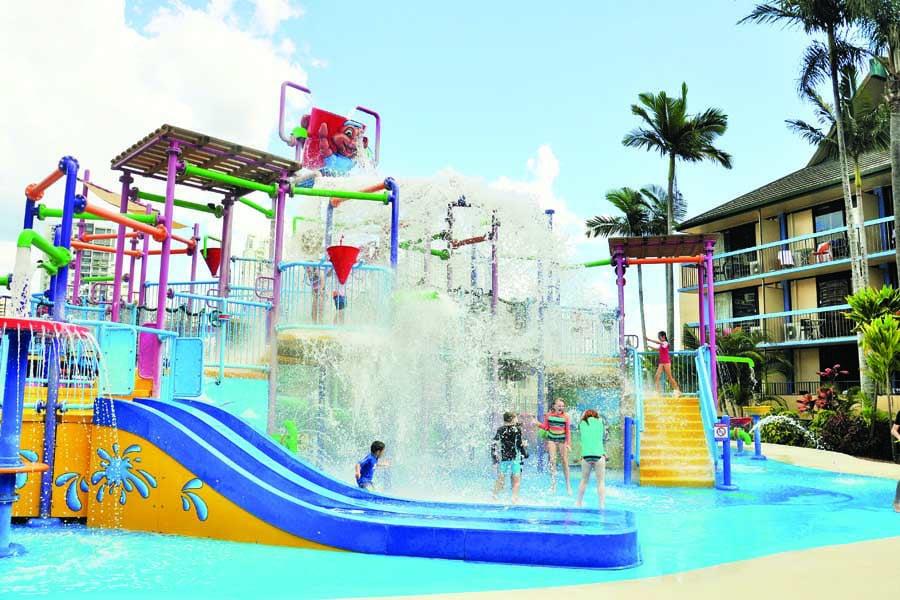 the water park at paradise resort