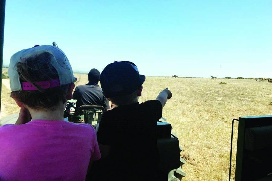 urzila carlsons children on safari