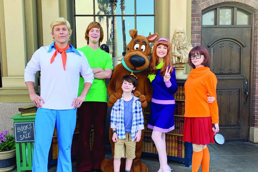 with scooby and friends at universal studios hollywood