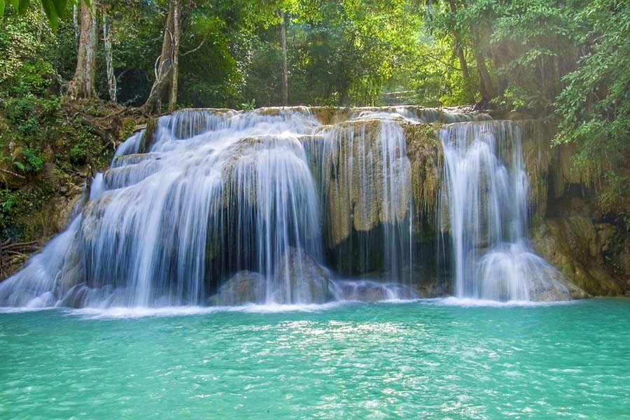 erawan waterfall in erawan national park