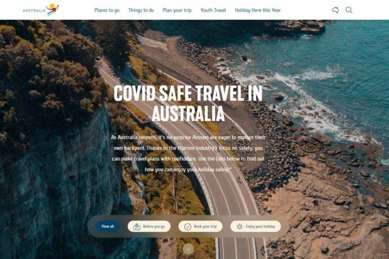 tourism australia covid19 travel portal