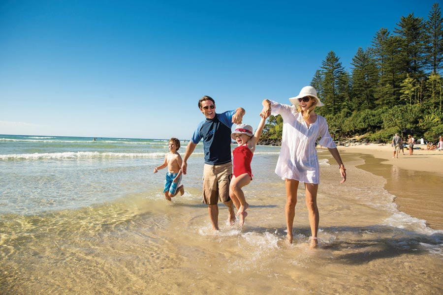 a family on the gold coast tourism and events queensland