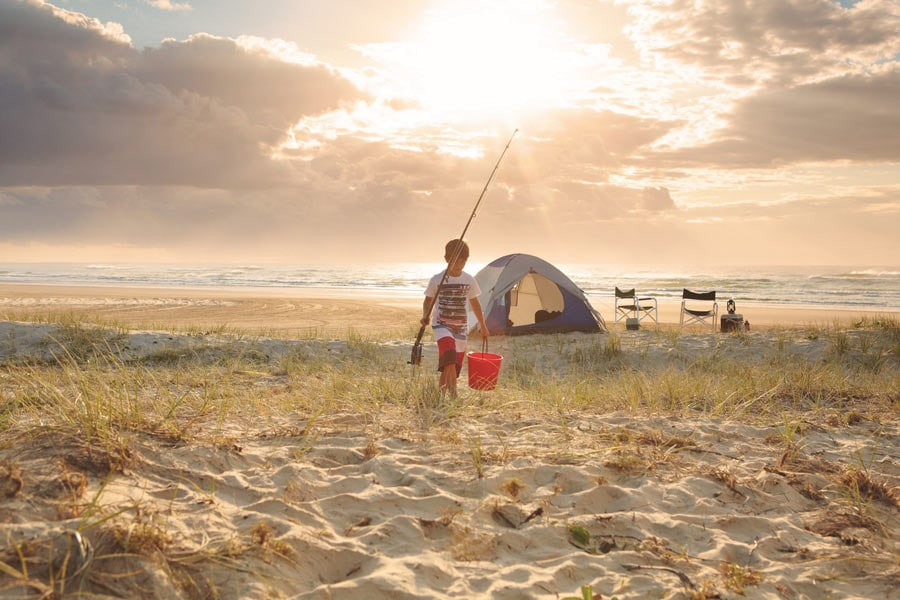camping on fraser island image fraser coast tourism and events