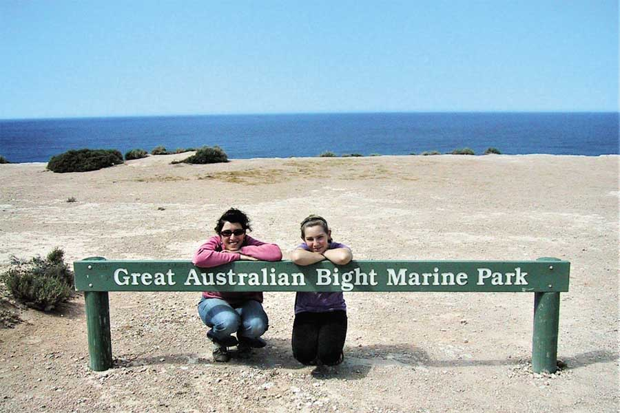 one time use. catherine and her daughter on the nullarbor plain