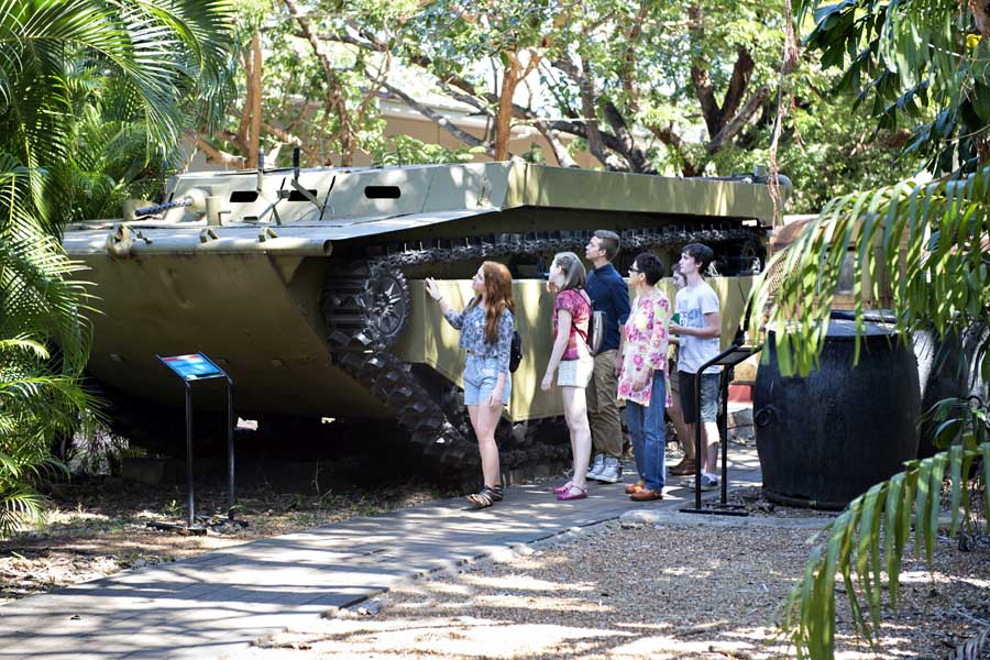 discover relics from the war at east point reserve. image tourism nt shaana mcnaught