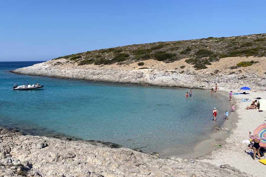 faneromeni beach on antiparos was the familys favourite
