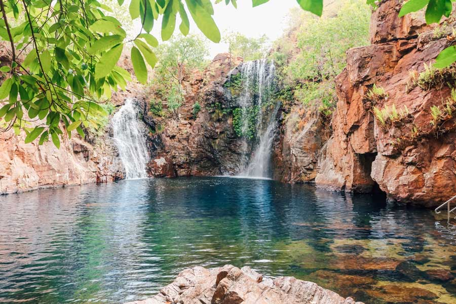 florence falls in litchfield national park. image tourism nt lucy ewing