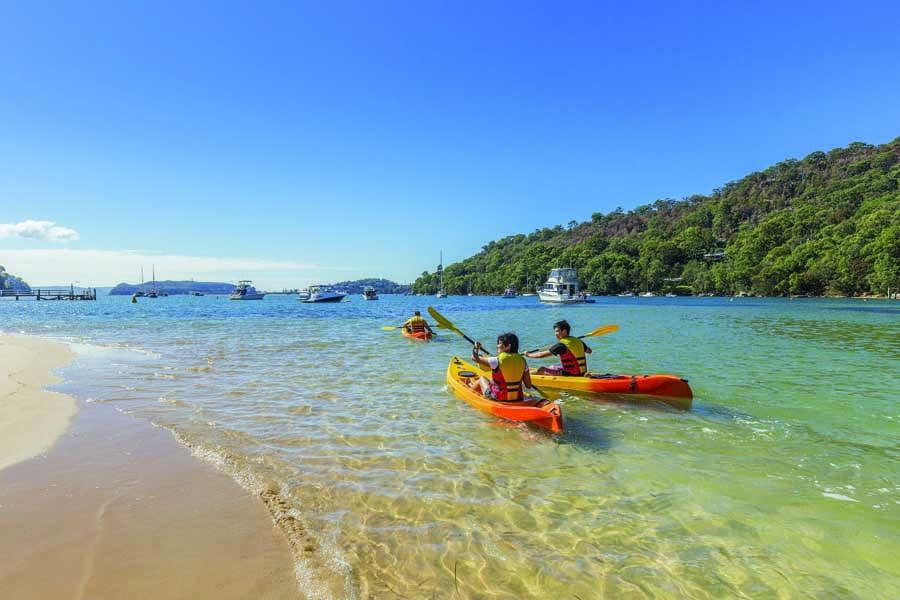 go kayaking at pittwater. image destination nsw