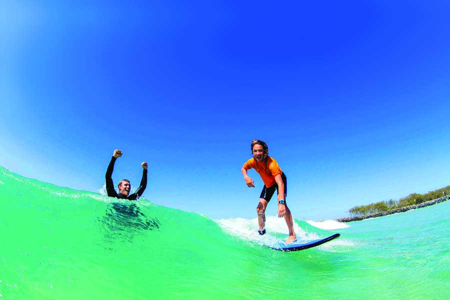 learn to surf. image in2surf
