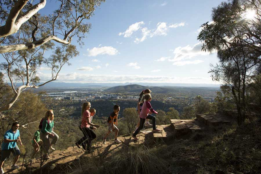 mount ainslie lookout is part of the centenary trail. image visitcanberra