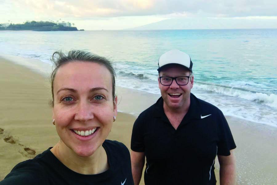 peter and bridget in hawaii in 2018