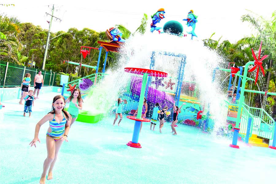the water park at north star holiday resort at hastings point