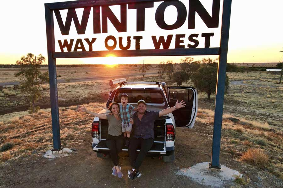 the feel good family at winton in outback queensland