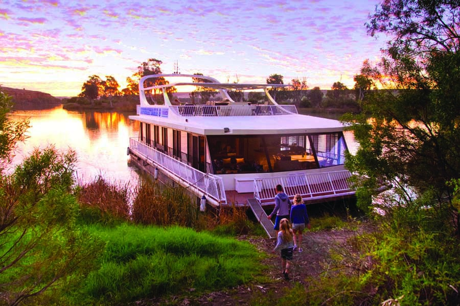 a houseboat on the murray river. image south australian tourism commission adam bruzzone