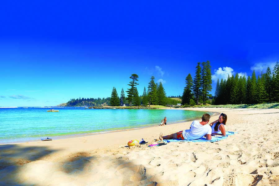 emily bay on norfolk island is ideal for families