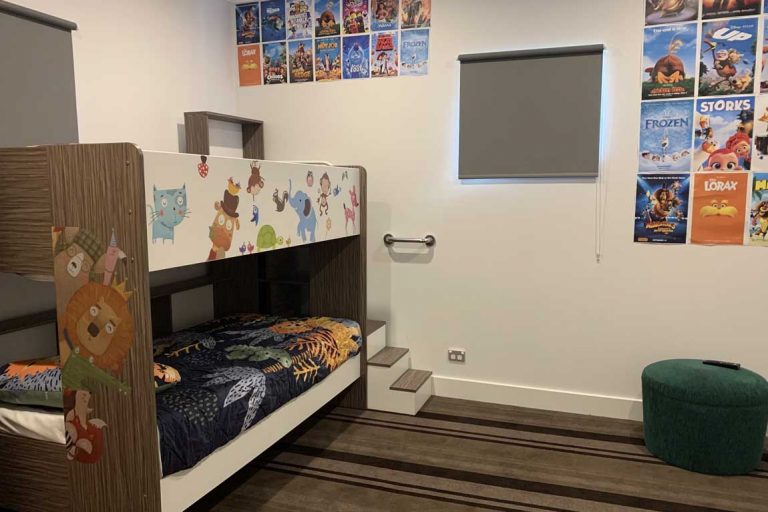feature bunk beds in the new kids cottage at crowne plaza hunter valley