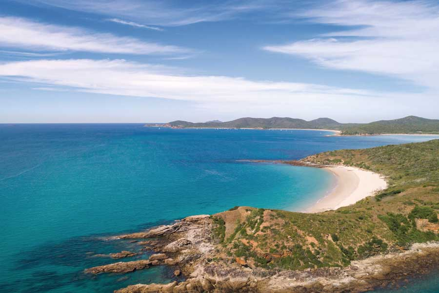 great keppel island is known for its beautiful beaches. image tourism and events queensland