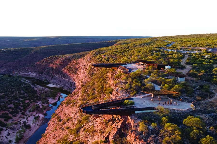 kalbarri skywalk in kalbarri national park. image tourism western australia