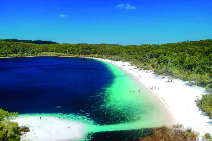 lake mckenzie on fraser island. image tourism and events queensland