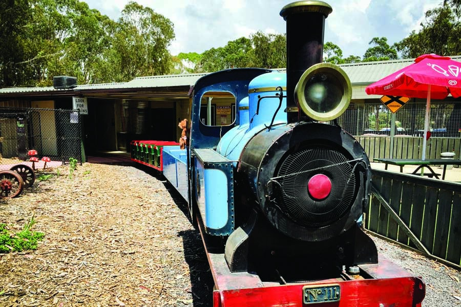 the steam train at yarralumla play station. image visitcanberra