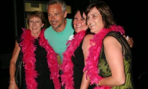 BeFunky LB Cam and Pink Boa Ladies