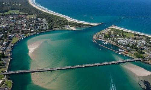 FEATURE An aerial view of Forster and Tuncurry Image Destination NSW