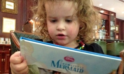 Marlo and her Little mermaid book
