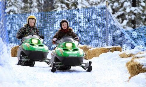 Mini sleds at Silver Star Canada hero