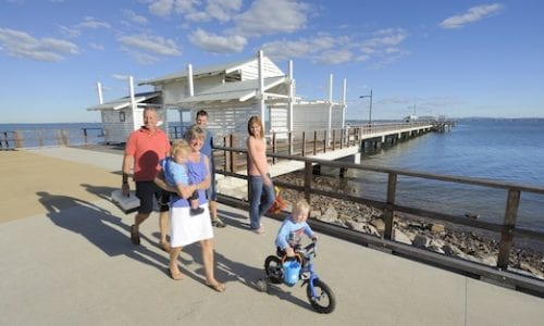 Moreton Bay Woody Point Jetty and Pathway