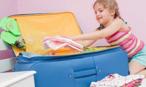 Packing tip for holidays with kids