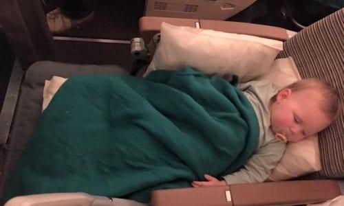 Plane Plan Leni asleep