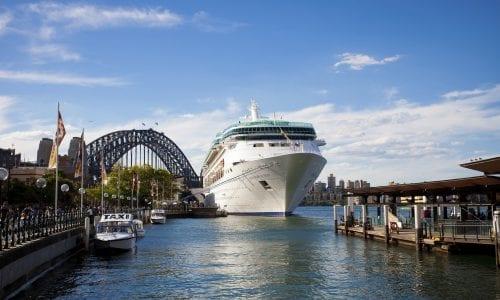 Rhapsody of the Seas in Sydney Harbour