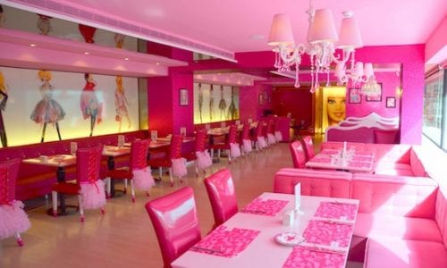 Taipei A sea of purest pink at the Barbie Cafe taipei