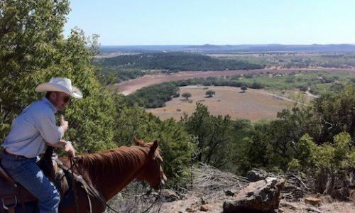 Texas cowboy and vista
