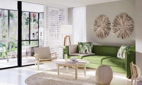 feature an artist impression of a rainforest luxe suite at byron at byron